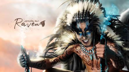Raven - Concept Art - V0.1 - (AVAILABLE) - WP by AxteleraRay-Core