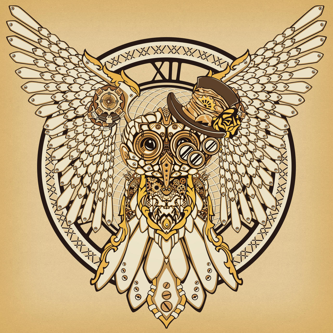 Steampunk Owl by KenshinPony on DeviantArt