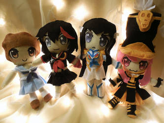Kill la Kill Plushie Group by frillycarnival