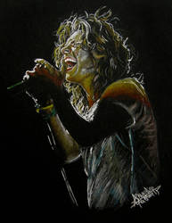 Harry Styles singing by Drawpassionn