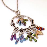 Rainbow Dream Catcher Necklace by Techcycle