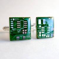 Computer Circuit Board Cufflinks