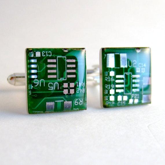 Circuit Board Cuff Links Geek Cufflinks Computer By Recomputing