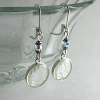 Silver Computer Circuit Earrings