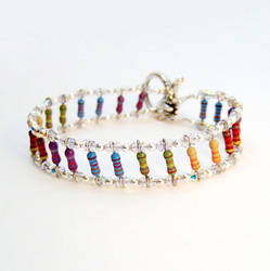 Dazzling Crystal and Rainbow Resistor Bracelet