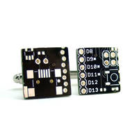 Black Circuit Board Cufflinks