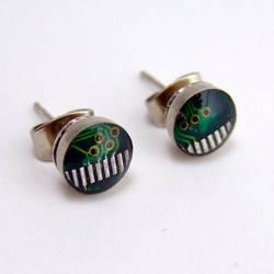 Computer Circuit Board Post Earrings