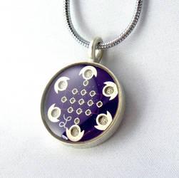 Purple Circuit Board Necklace