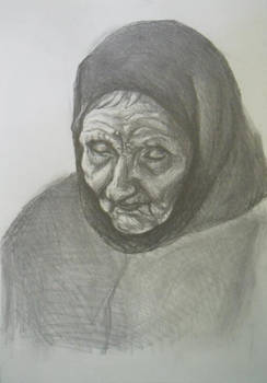 A portrait of a 100 year old woman