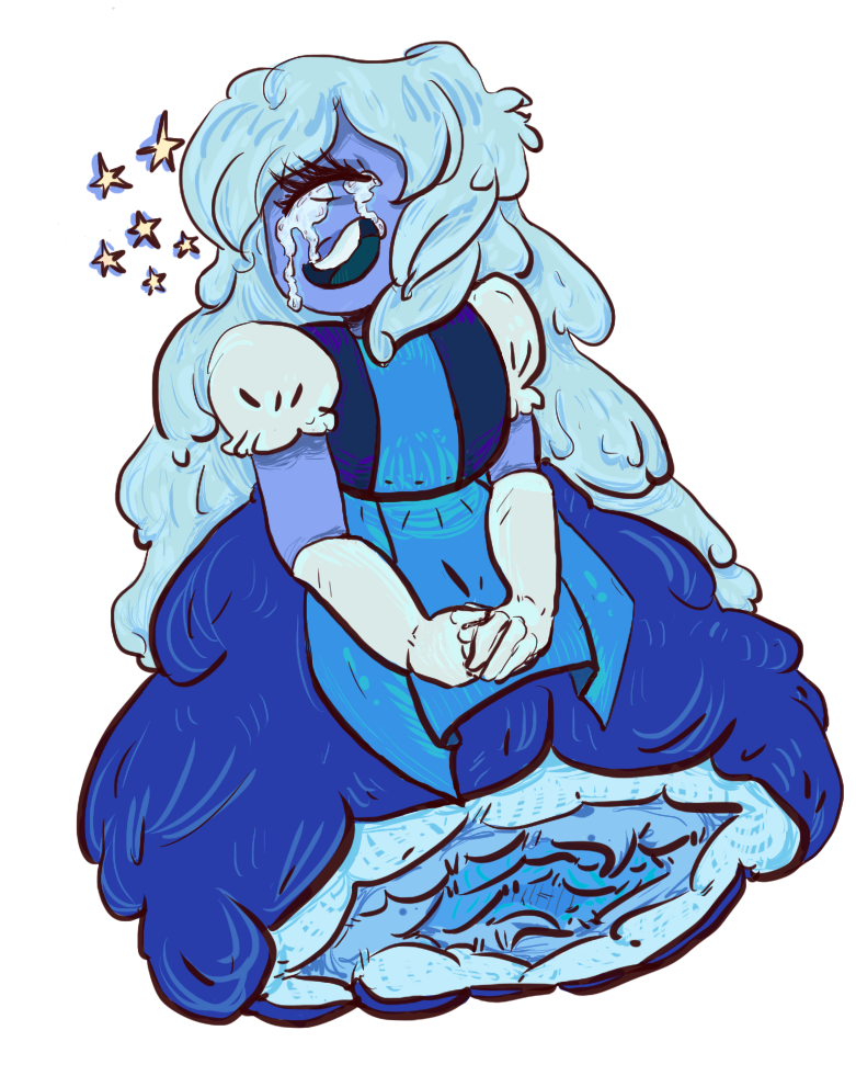 transparent sapphire! part of a two part piece ruby here tarohero1.deviantart.com/art/f… (tumblr post with both tarropins.tumblr.com/post/1266… )