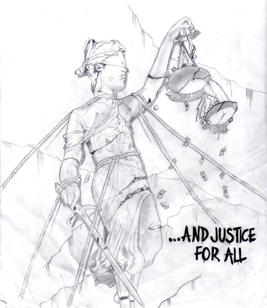 ... And Justice For All (Metallica Cover Fan Art) by PhenomenalDrawer