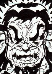 Charity Sketch Card - Hulk