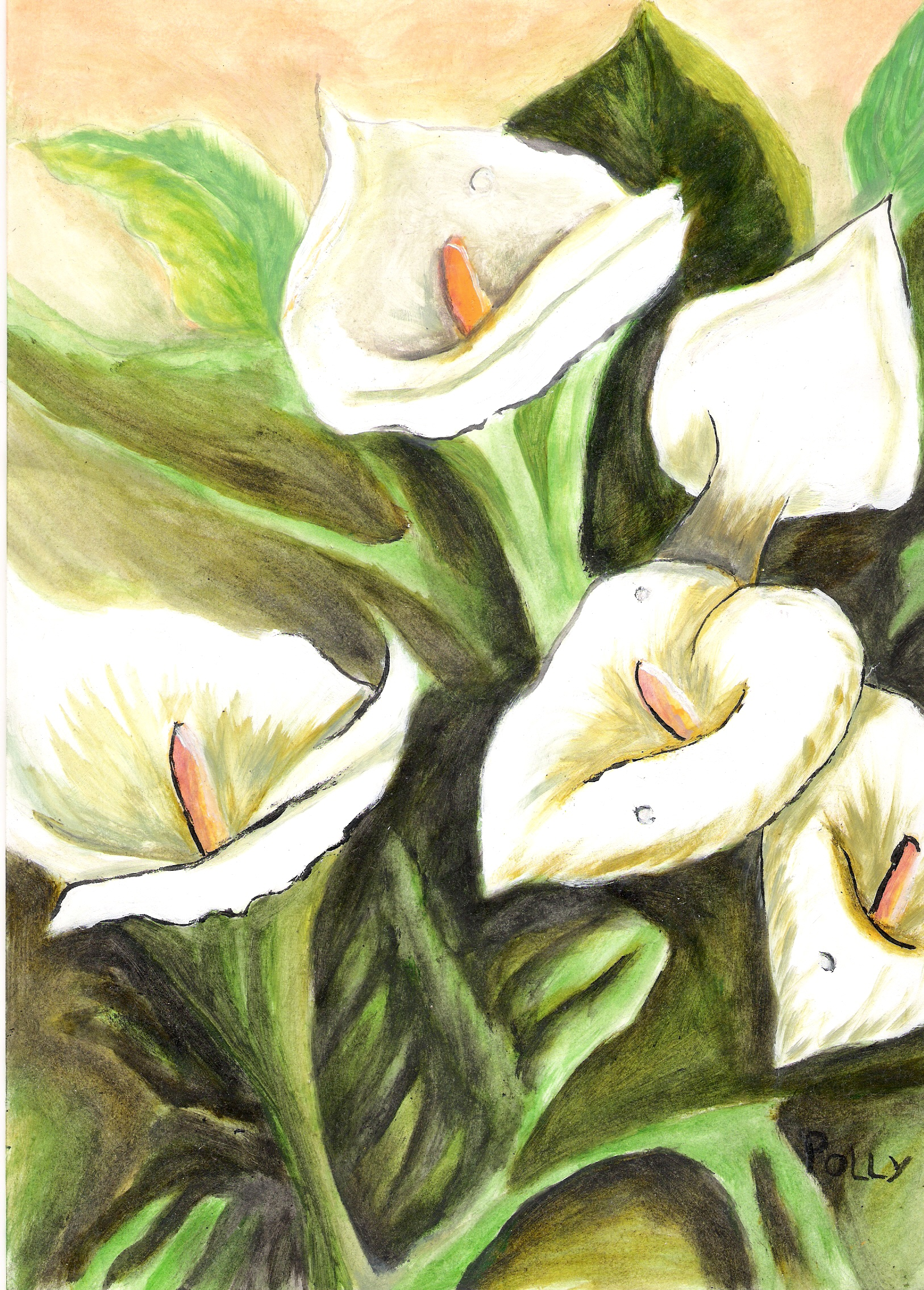 Painted flowers by pollys2 on DeviantArt
