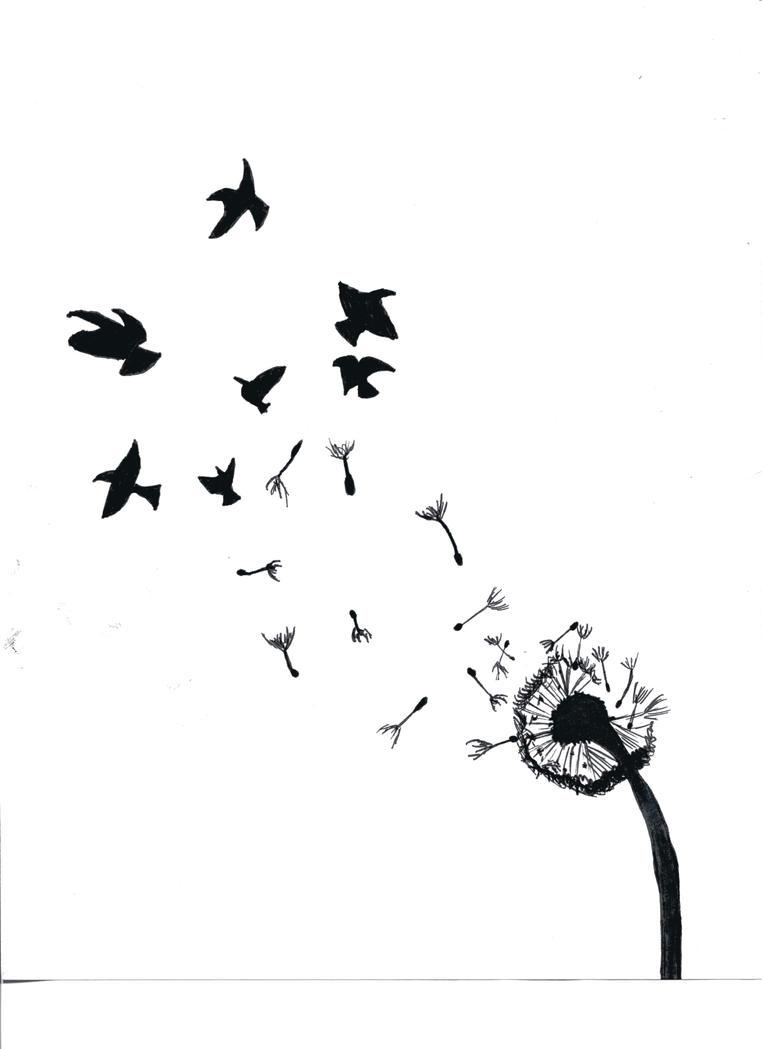 Dandelion Turning Into Birds by BismarckAlphawolf