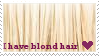 I have blond hair stamp by White-ruby
