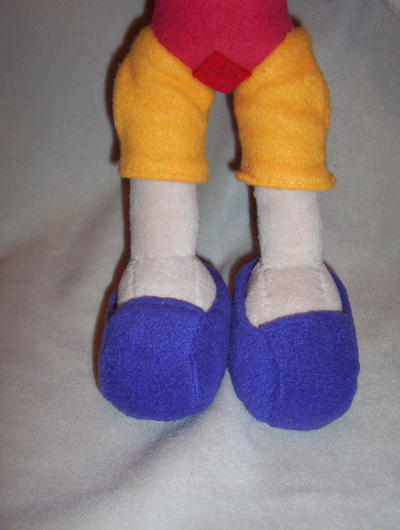 SONIA THE HEDGEHOG PLUSH  PURPLE SHOES by Victim-RED