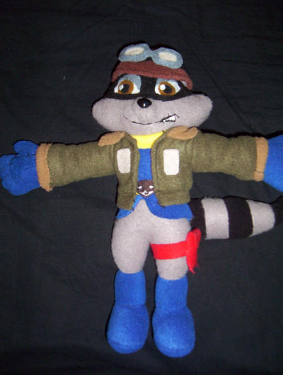 Sly Cooper Stuffed Animal, Pilot Sly Cooper Plush By Victim Red On Deviantart