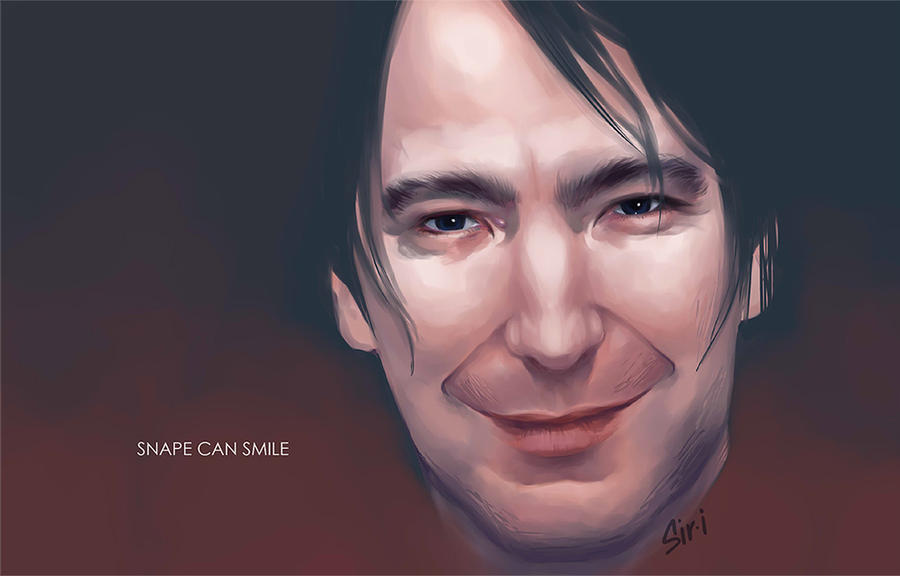 Snape can smile by Sir-i