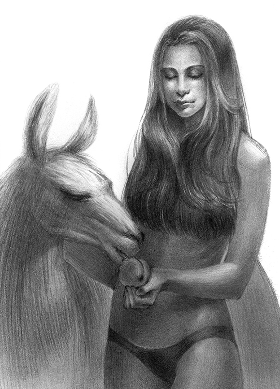 Llama girl by Sir-i