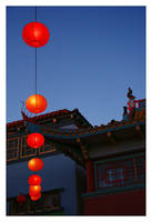 Chinatown at Night by littleredelf