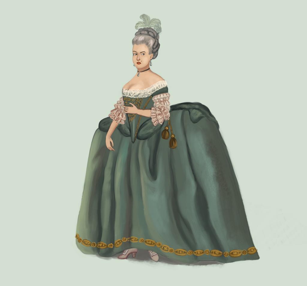 1770 Robe de Cour by Tadarida