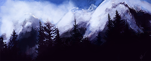 mountain speed paint by daughterofeast