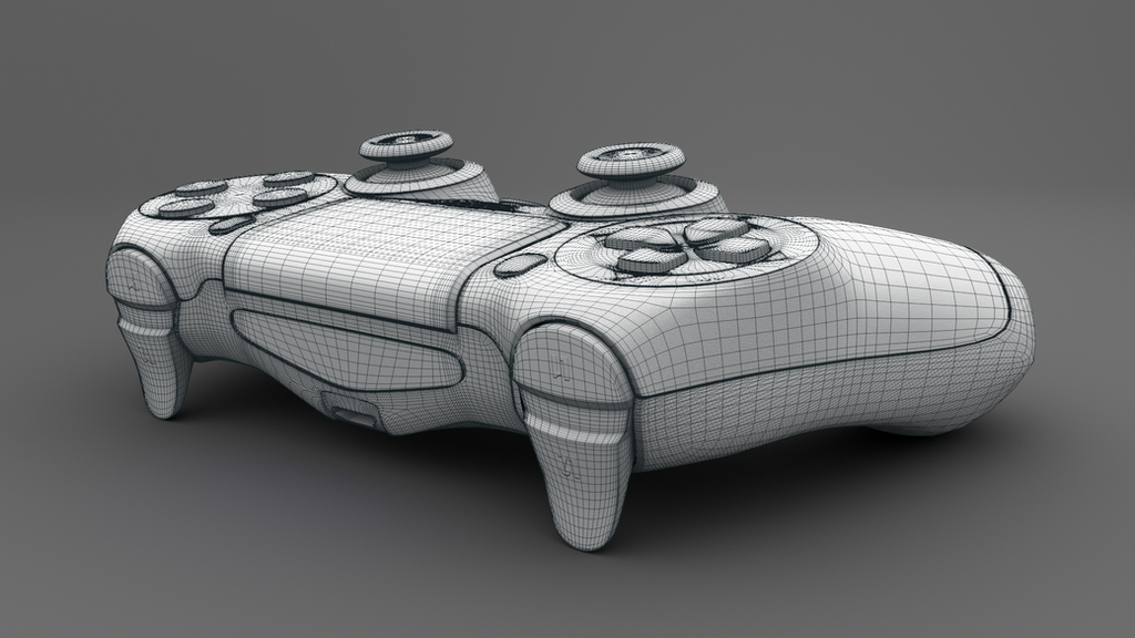 Ps4 Controller Playstation 4 Controller 3d Model By