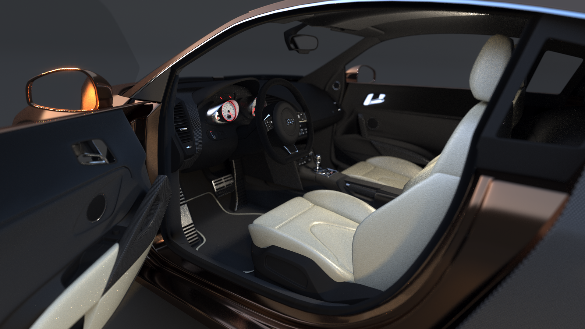 audi r8 3d model with hq interior by neubi3d on deviantart. Black Bedroom Furniture Sets. Home Design Ideas