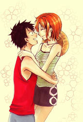 Nami and Luffy