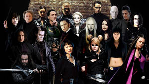 Dark persons in black clothing