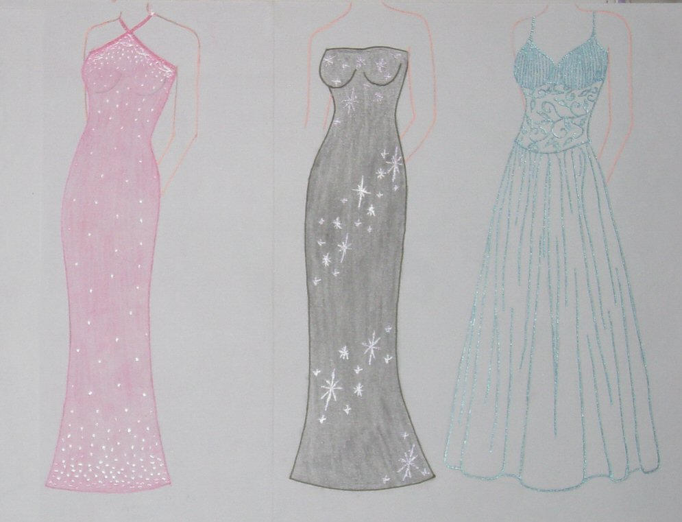 Drawings Of Prom Dresses 50