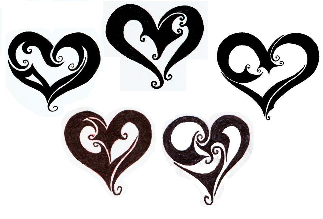 Heart tattoo designs by trinity lea on deviantart for Heart design tattoos