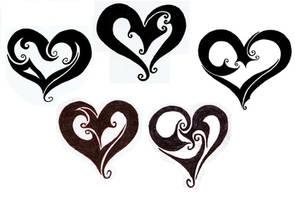 Heart Tattoo Designs by trinity-lea