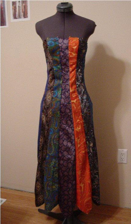 Фото платье из галстуков