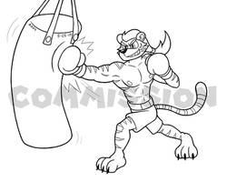Sketch Commission - Ricky's Heavy Bag Training by SuperAbachiBro