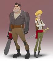 Ben and Guybrush