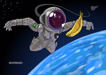 Astronaut Chimp by mendigo-amigo