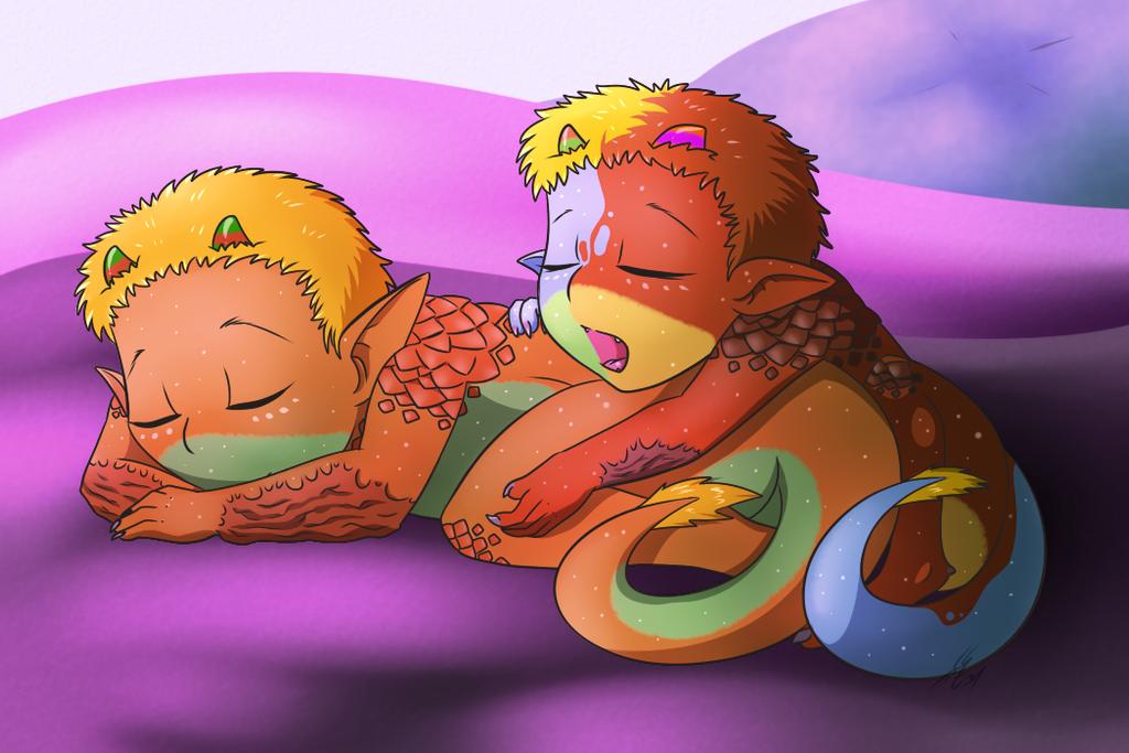Sleepy Babies by silver-phoenix103