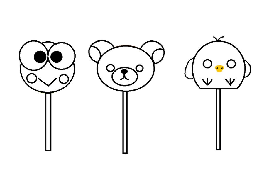 Cake Pops Outline Png