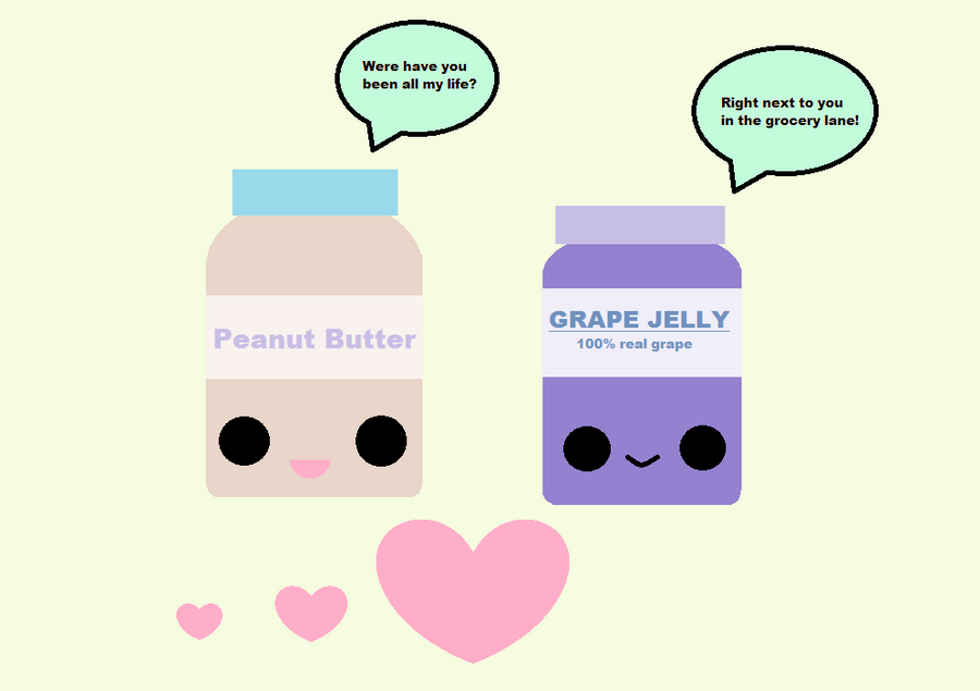 Love Jelly Wallpaper : Kawaii Peanut Butter and Jelly Love by KawaiiBow100 on DeviantArt