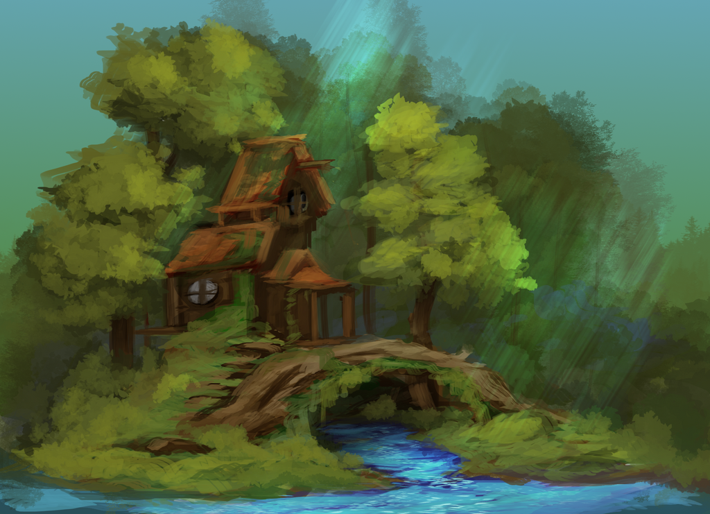 Forest House by Miamelly