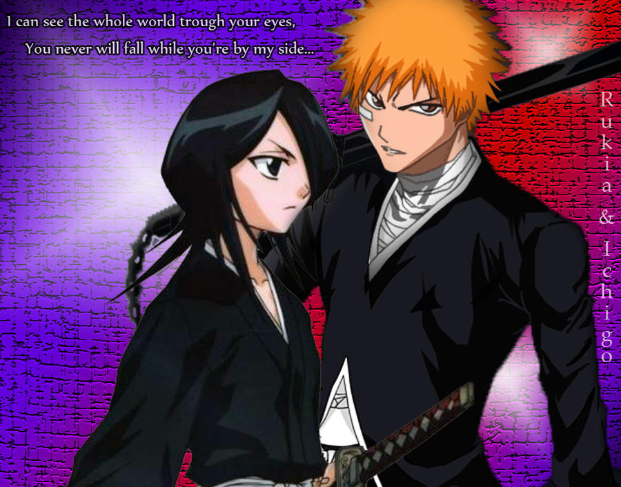Rukia And Ichigo Wallpaper By ZDemonGirl