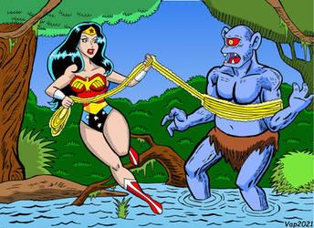 Wonder Woman Vs Cyclops By CaptainAp60
