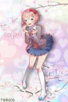 Sayori edit by hiriArt