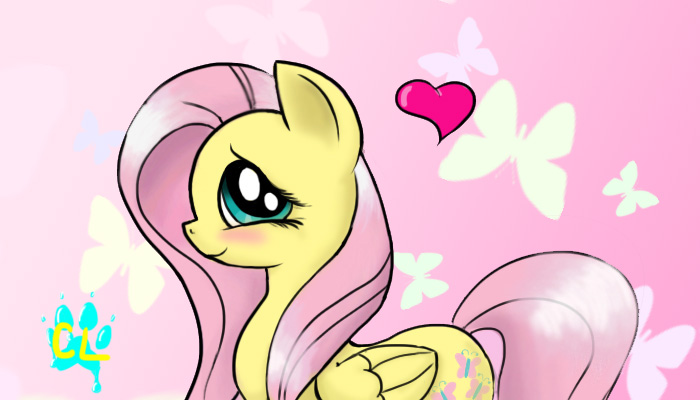 Fluttershy Wallpaper by Catlover264