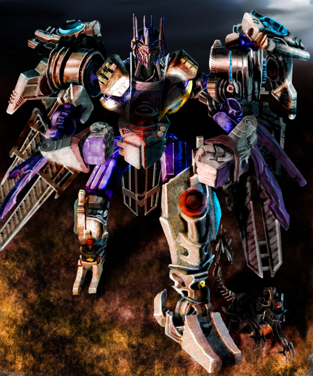 ROTF Soundwave and Ravage by liliwen