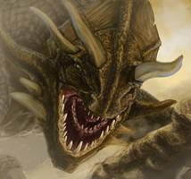 Dragon In The Desert by liliwen