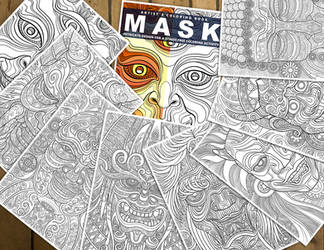 Mask - Artist's Coloring Artbook by oleolah
