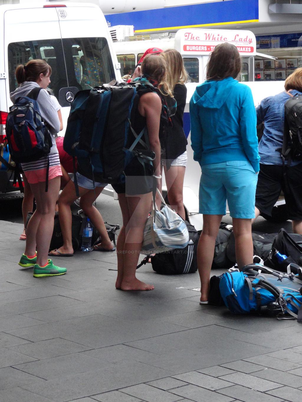Handjob by stranger in public