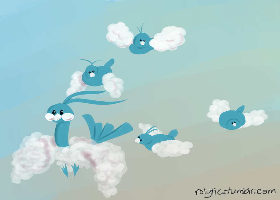 03 Flying - Swablu and Altaria by Rolytic